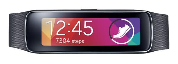 Samsung - Geek Squad Certified Refurbished Gear Fit Fitness Watch with Heart Rate Monitor