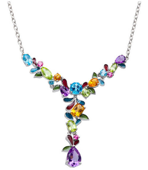 7 1/2 ct Multi-Stone Garland Necklace