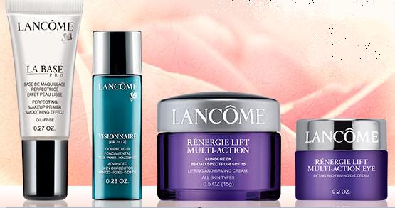 Free 4 Deluxe Skincare and Beauty Products With Any $35 Purchase @ Lancome