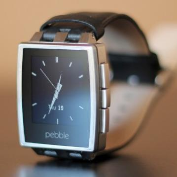 $119.99 Pebble Steel Smartwatch Stainless