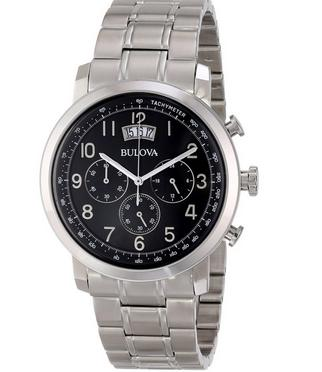 Bulova Men'sClassic Collection Chronograph Stainless Steel Watch 96B202