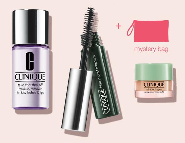 3 Free Minis + Mystery Bag with Any $25 Purchase @ Clinique