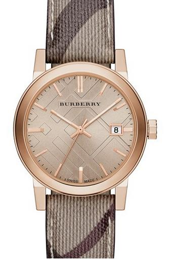 Burberry Smoke Check Strap Watch