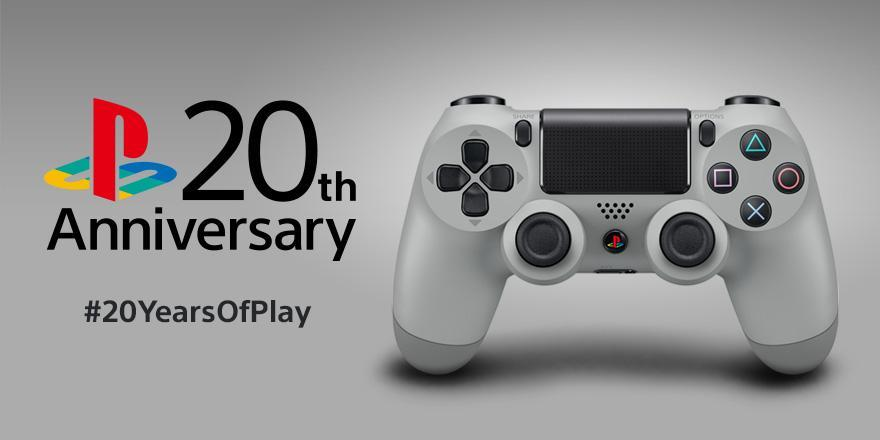 $54.99 DualShock 4 Wireless Controller for PlayStation 4 - 20th Anniversary Edition