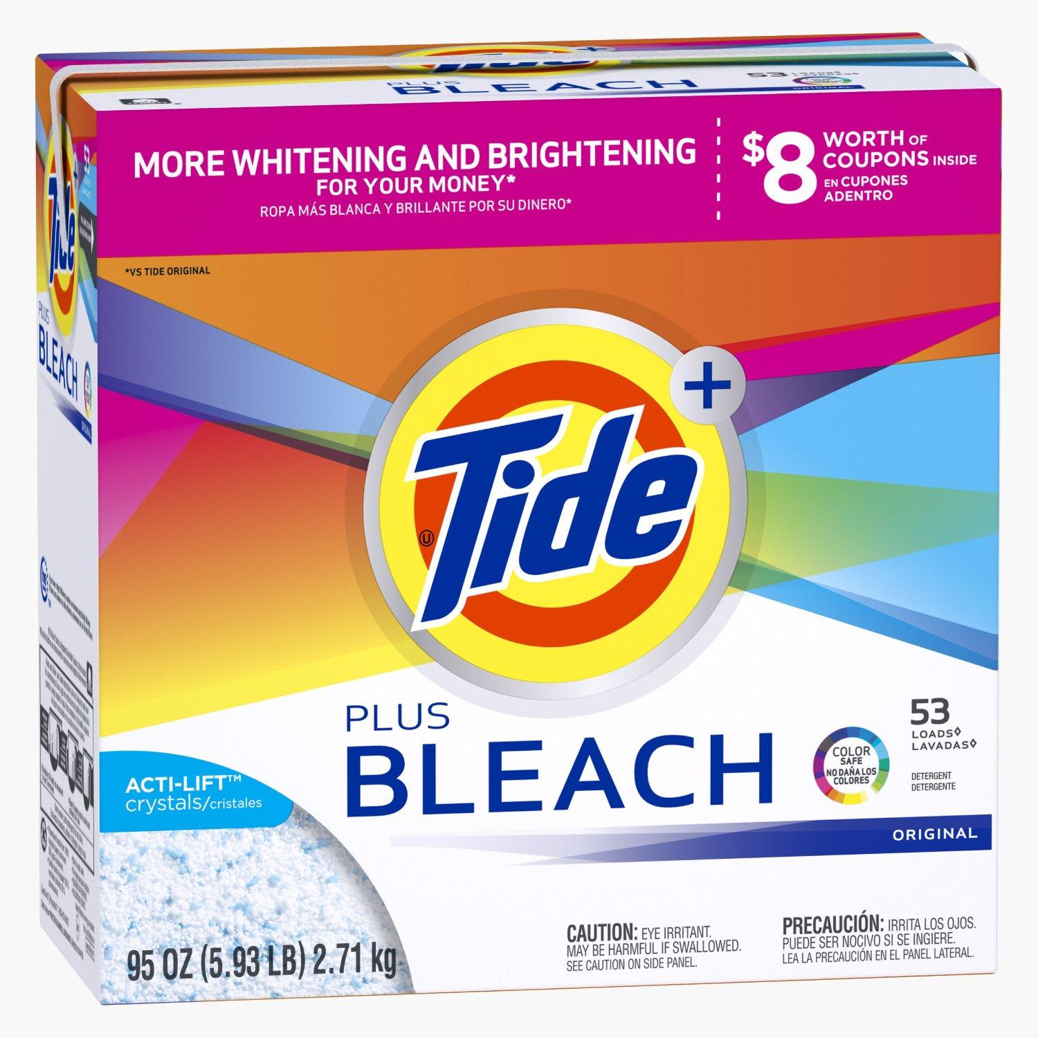 $6.27 Tide Powder Ultra Original Scent with Bleach - 53 Loads 95 oz