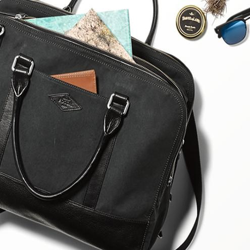 $105.71  Fossil Bowen Duffle Bag, Black, One Size