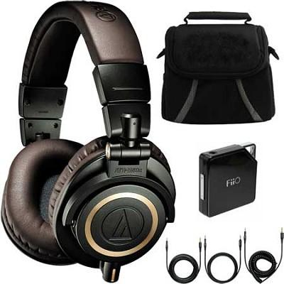 Audio-Technica ATH-M50XDG Limited Edition Studio Headphones Ultimate Bundle