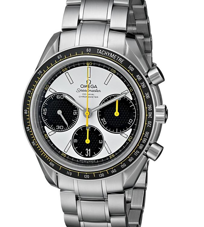 Omega Men's Speed Master Analog Display Automatic Self Wind Silver Watch