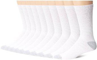 Hanes Men's Crew Socks (Pack of 10)