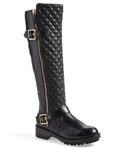 Steve Madden 'Willits' Quilted Moto Boot @ Nordstrom Rack