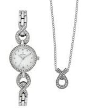 Bulova Watch and Necklace Set 96X115