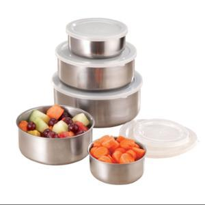 Miles Kimball Stainless Steel Bowls - Set Of 5