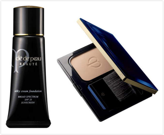 $280 + $25GC Cle de Peau Beaute Silky Cream Foundation + Radiant Powder Foundation
