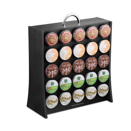 Mind Reader RAC3PC-BLK Wall K-Cup Coffee Organizer, 12 inch x 5 . 5 inch x 13 . 5 inch , Plastic, Black