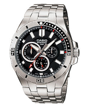 Casio Men's MTD-1060D-1AVDF Stainless Steel Dive Watch