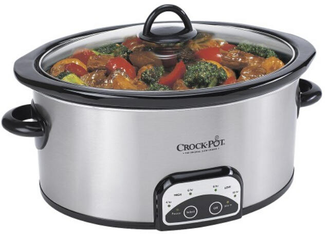 $23.99 + Free $10 Gift Card Crock-Pot - Smart-Pot 4-Quart Slow Cooker - Stainless-Steel/Black @ Best Buy