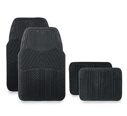 WeatherHandler All Season 4 pc. Rubber Floor Mat Set