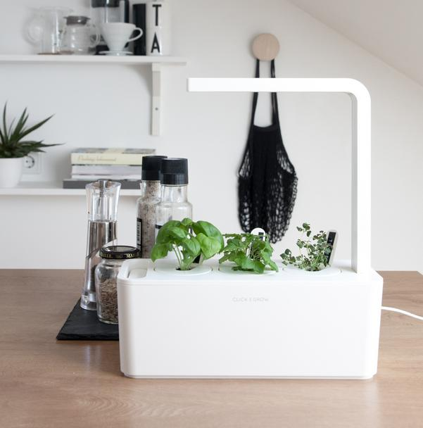 Click & Grow Indoor Smart Herb Garden with 3 Basil Cartridges