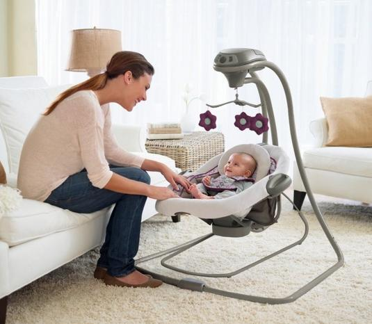 Graco DuetConnect LX Swing + Bouncer, Nyssa