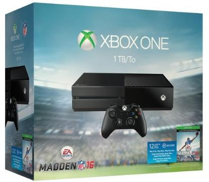 $349.99 Xbox One 1TB Console + Madden NFL 16 Limited Edition Bundle