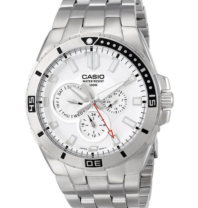 Casio Men's MTD-1060D-7AVDF Divers Stainless Steel Watch