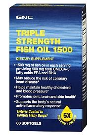 3 For $25 GNC Triple Strength Fish Oil 1500