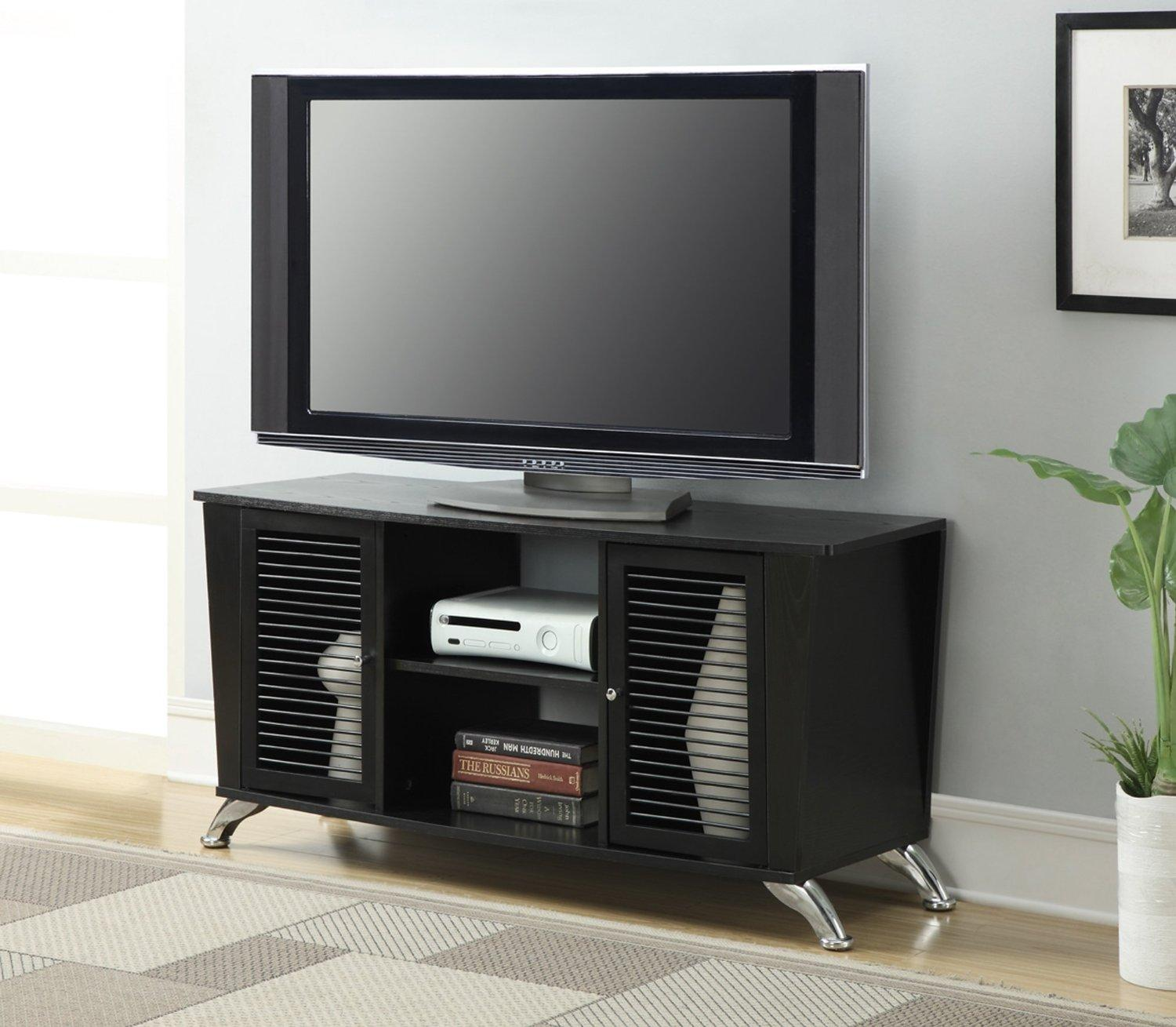 Convenience Concepts Voyager TV Stand, Black Finish
