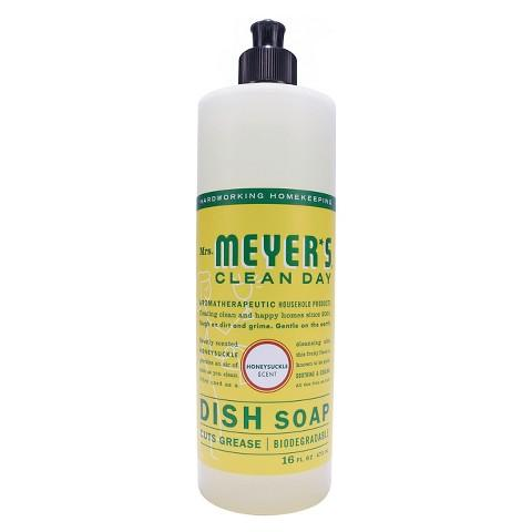 $9.69 3 X Mrs. Meyer's Honeysuckle Dish Soap 16 oz + $5 Target Gift Card