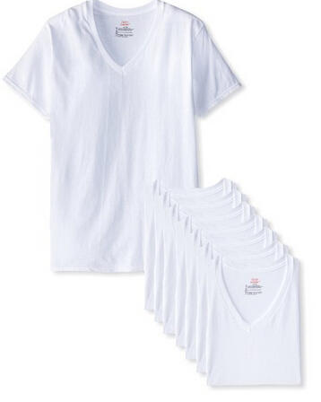 Hanes Men's V-Neck T-Shirt (Pack of 8)