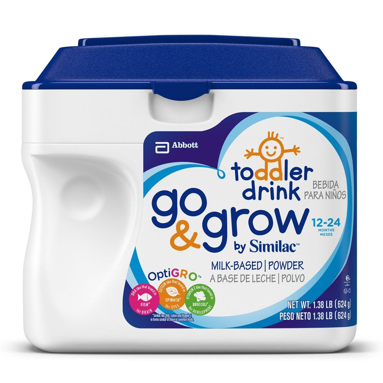 $69.97 Go & Grow by Similac, Stage 3 Milk Based Toddler Drink, Powder, 22.08 Ounces (Pack of 6)