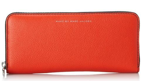 Marc by Marc Jacobs Sophisticato Leather Pop Zipper Slim Zip Around Wallet
