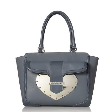 Love Moschino Metal Heart Tote Shoulder Bag