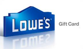 $90 $100 Lowes Gift Card