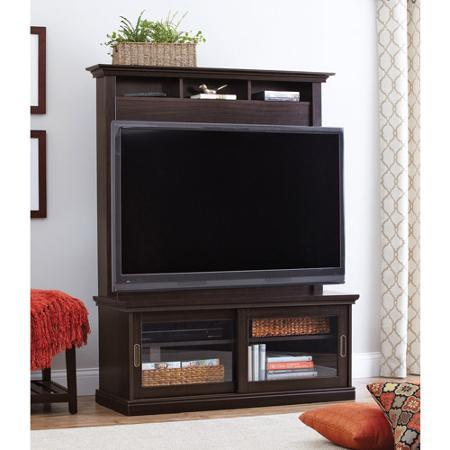 Better Homes and Gardens Chocolate Oak TV Stand