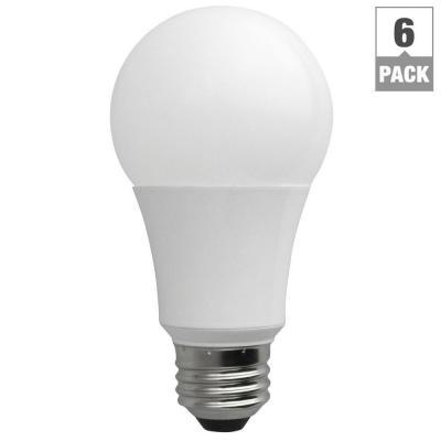 $19.19 TCP 60W Equivalent Daylight (5000K) A19 Non-Dimmable LED Light Bulb (6-Pack)