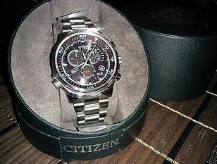 Citizen Nighthawk A-T Black Dial Mens Watch AT4110-55E