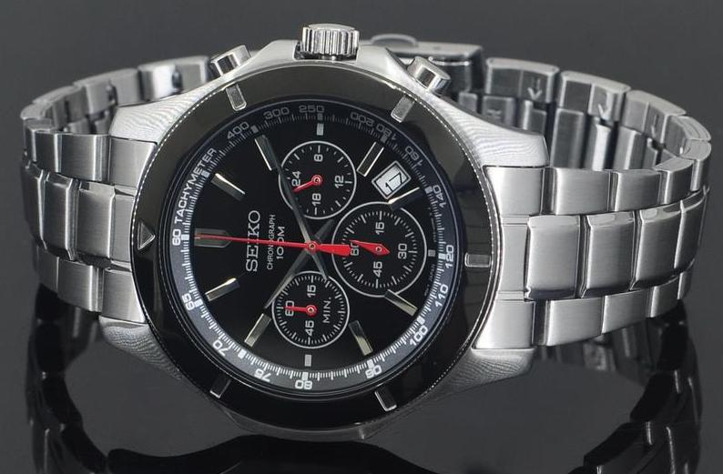 Seiko Men's Stainless Steel Chronograph Watch SSB111