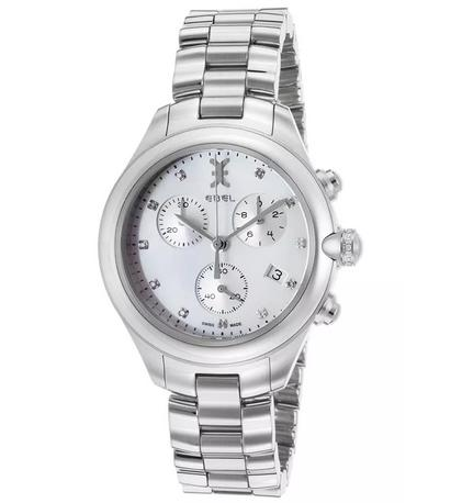 Ebel Women's Onde Diamonds Chronograph Stainless Steel White MOP Dial Watch