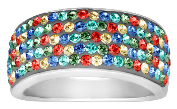 $24 Confetti Band Ring with Swarovski Crystals