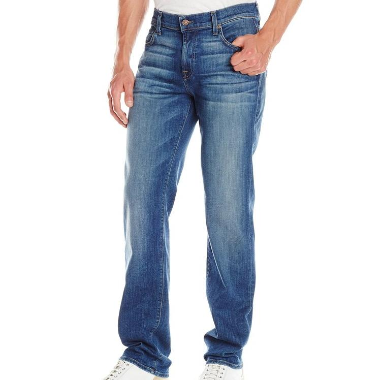 7 For All Mankind Men's Austyn Relaxed Straight-Leg Jean In Skydiver