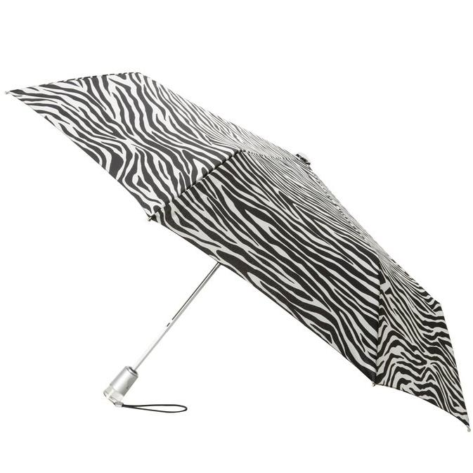 Totes  Signature  Basic Automatic Compact Umbrella, Zebra, One Size