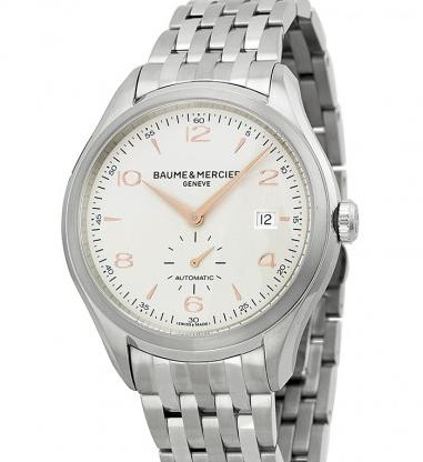 $1350 Baume and Mercier Clifton Silver Dial Stainless Steel Men's Watch