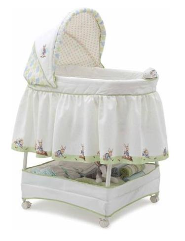 Delta Children Sweet Beginnings Bassinet, Scarborough White