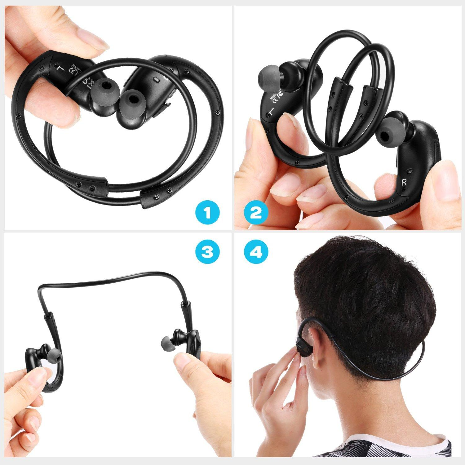 Coocheer Wireless Bluetooth 4.1 Stereo Sports Headphones