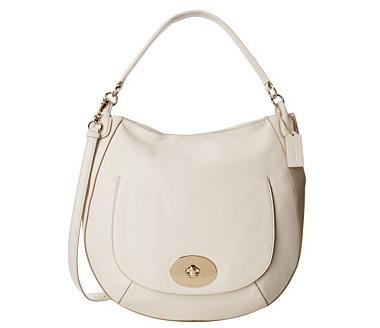 COACH Smooth Calf Leather Circle Hobo