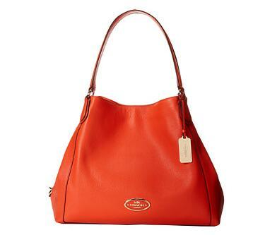 COACH Refined Pebbled Leather Edie Shoulder Bag