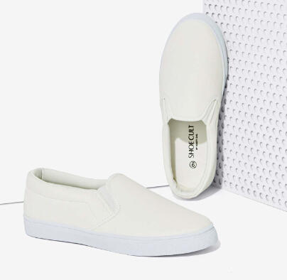 Nasty Gal Into the Night Slip-On Sneakers - White