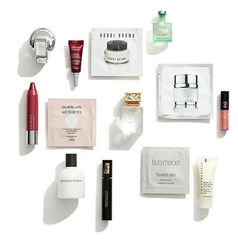 Receive 4 deluxe samples cosmetics bags with any $125 beauty purchase
