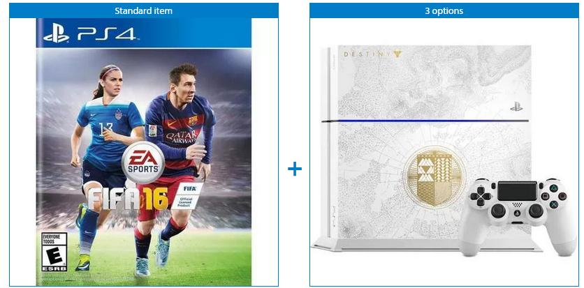 $399.99 PlayStation 4 Limited Edition Destiny: The Taken King 500GB Bundle with FIFA 16