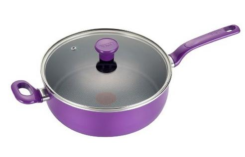 T-fal Excite Nonstick Jumbo Cooker Cookware, 4.5-Quart, Purple